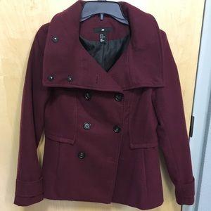 Maroon Pea Coat